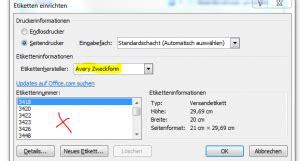 Avery Etiketten Drucken Mit Word by Din A4 Etiketten Bedrucken Mit Word 2010 Bluhm Systeme