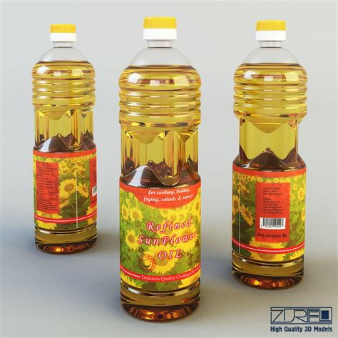 Salad Flower 3 Liter 3d model bottle 1 liter