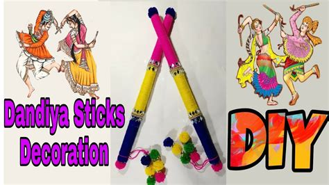 decorate dandiya sticks home dandiya sticks decorations ideas diy garba raas how
