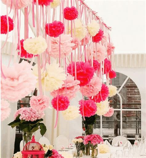 Tissue Paper Flowers Hanging Decoration by 6 Creative Wedding Hanging Decorations For Your D Day