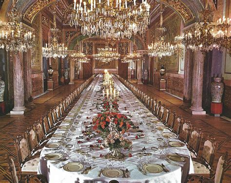 the state dining room at royal palace of madrid spain