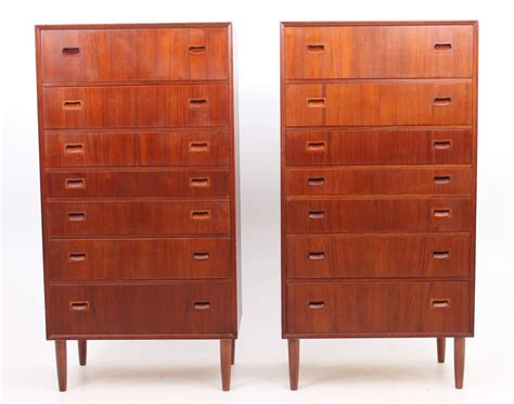 Chest Of Drawers Set by Set Of 2 Tallboy Chest Of Drawers From The Fifties By