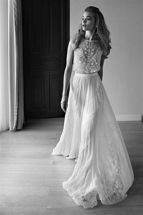 2016 Lace Vintage Beach Wedding Dresses Bohemian Boho Cap Sleeve Beaded Lihi Hod Plus Size Open