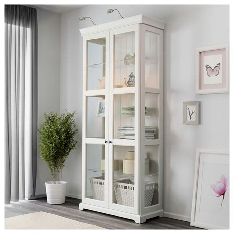 white cabinet with glass doors liatorp glass door cabinet white 96 x 214 cm ikea
