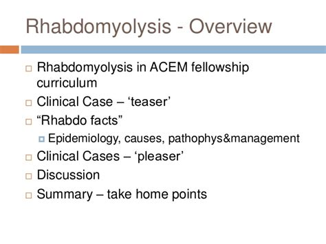 rhabdomyolysis registar teaching 9 10 12 b
