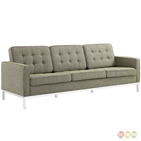 tufted sofa and loveseat set loft modern 2pc upholstered button tufted sofa loveseat