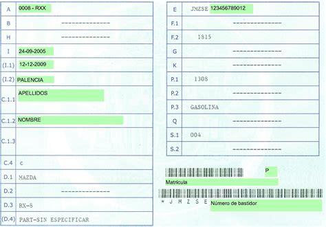 permiso de circulacion el bosque permiso de circulacion rx8 reverso