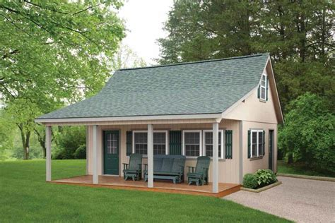 metal cabins for sale this looks cool green roof beige paint white