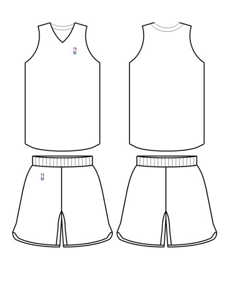 File Nba Uniform Template Png Wikimedia Commons Basketball Jersey Template