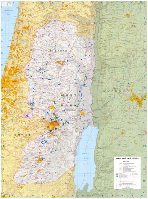west bank map west bank and gaza maps perry casta 241 eda map collection ut library