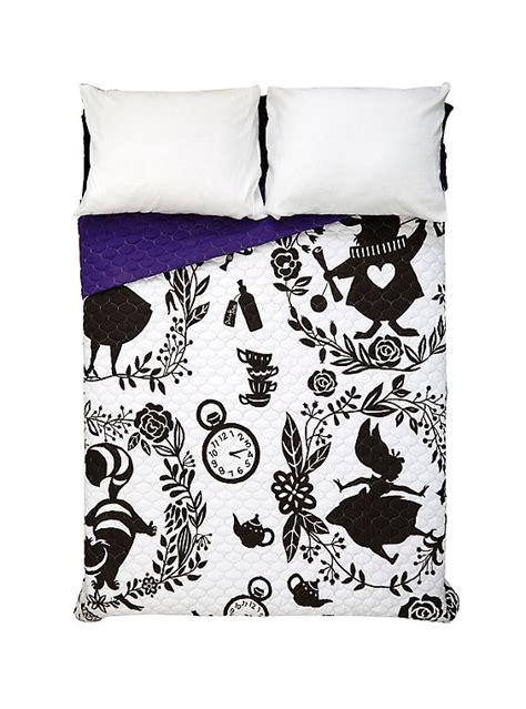 alice in wonderland comforter disney alice in wonderland silhouette print quilt hot topic