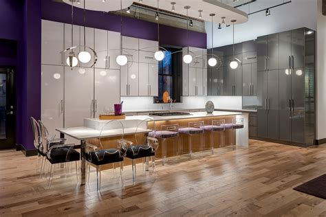 contemporary kitchen shines  high gloss laminate