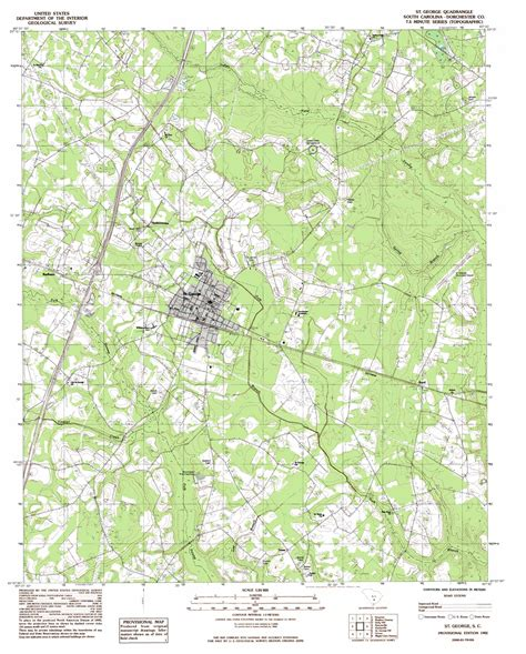 topographic map of carolina george topographic map sc usgs topo 33080b5