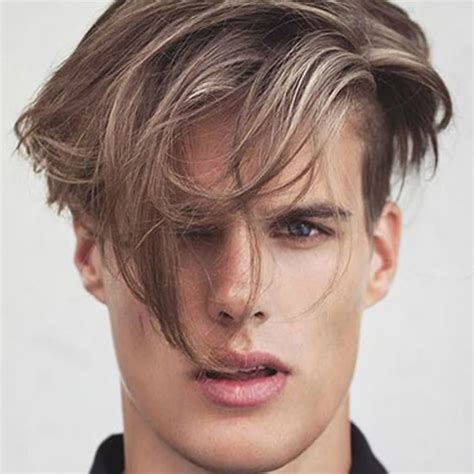 hairstyles with long hair on top an short on the sides male haircuts long fringe haircuts models ideas