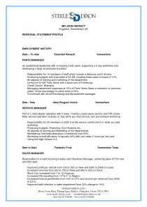 best photos of perfect cv example parts manager resume