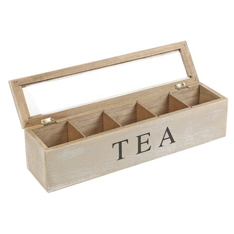washed wood box l distressed wooden tea box 5 sections compartments