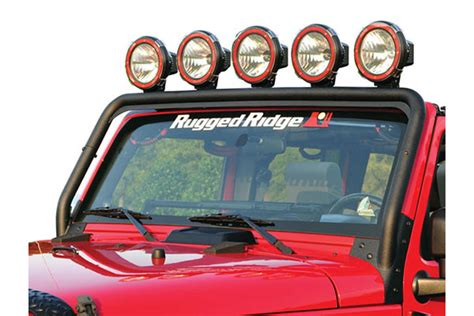 Rugged Ridge Light Bar by 2007 2017 Jeep Wrangler Light Mounts Wiring Rugged