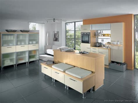 Modern Kitchen Island Bench by Pictures Of Kitchens Modern Light Wood Kitchen