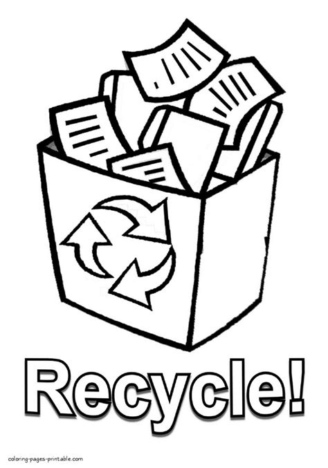 recycle coloring pages preschool recycling coloring pages az coloring pages