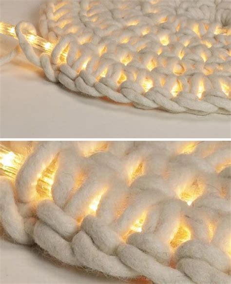 lighted crochet rug easy diy rope rugs projects to warm up your home