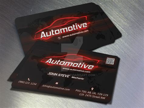 free automotive card template automotive business card by oksrider on deviantart