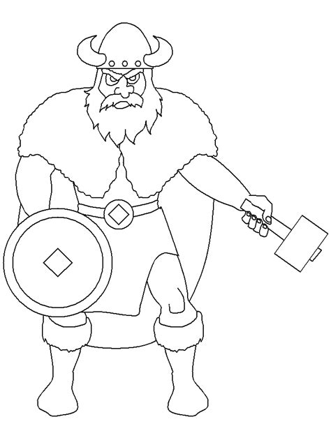 viking coloring of face coloring pages