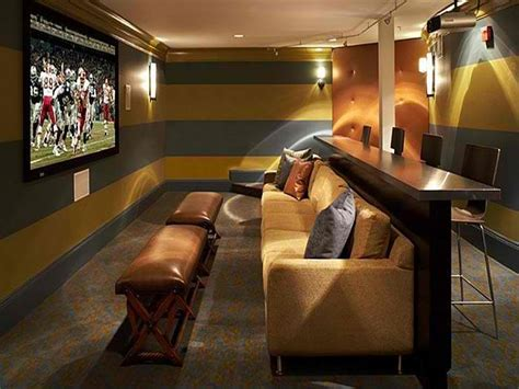 Media Room Couch Home Theater Room With Bar Mobile Homes