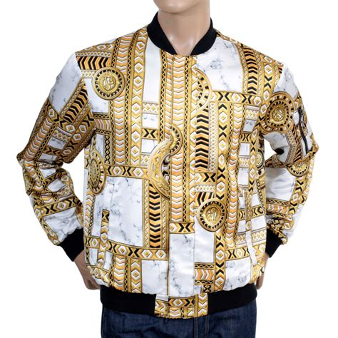 Jacket Ver Sace duchesse printed blouson jacket for from versace
