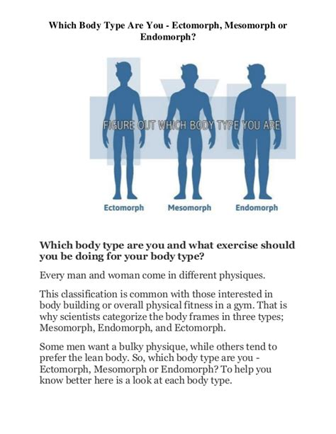 which type are you ectomorph mesomorph or endomorph
