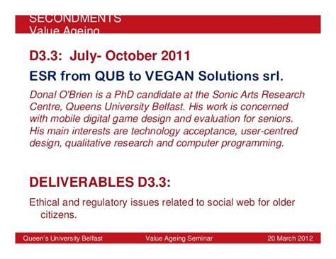 game design qub value ageing queen s university belfast