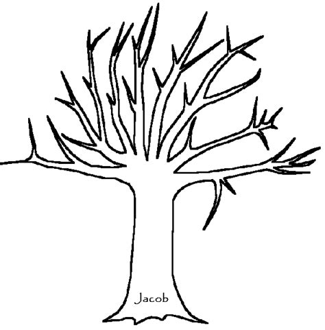 Free Coloring Pages Of Color My Family Tree Tree Trunk Coloring Page