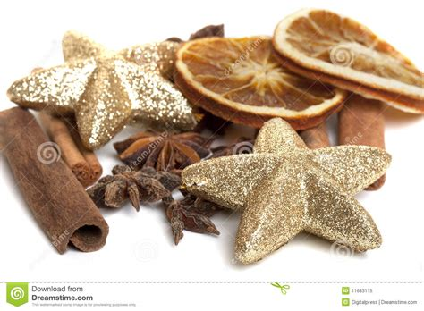 dry sticks decoration drone fly tours cinnamon sticks anis and dried oranges royalty free stock