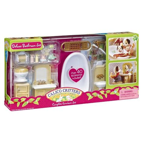 calico critters bathroom calico critters deluxe bathroom set target