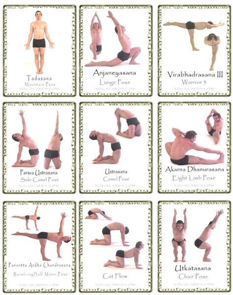 free printable yoga poses yoga pose cards