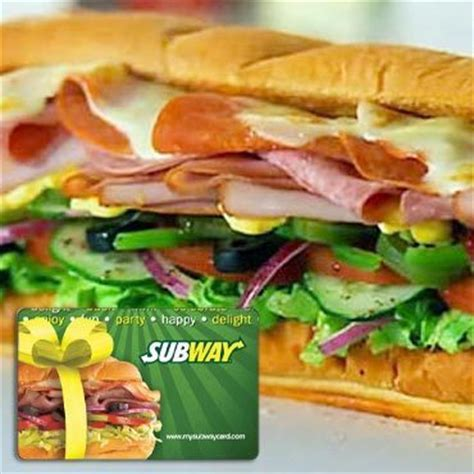 5 Subway Gift Cards - 10 subway gift card 5 free s h mybargainbuddy com