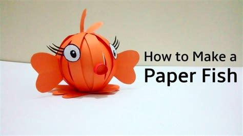 Make A Paper Fish - paper crafts ideas finding nemo how to make a paper fish