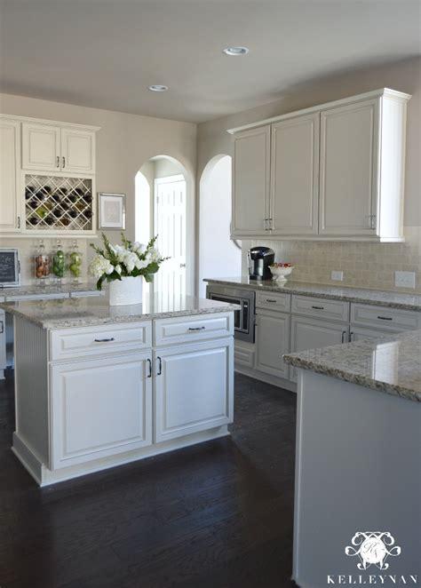 white kitchen tour guest countertops slate backsplash neutral kitchen tour favorite features and necessities