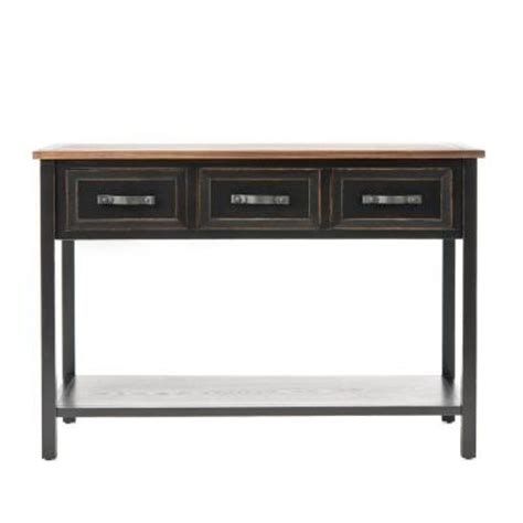 home decorators console table home decorators collection michael 3 drawer console table