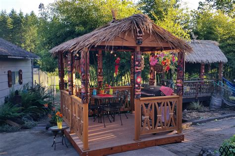 backyard tiki huts authentic tiki hut for your backyard dixon woodworking inc