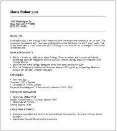 Sample Resume For Zoologist zoologist resume example free templates collection