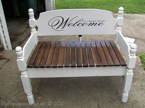 bench made from headboard and footboard headboard footboard bench house pinterest