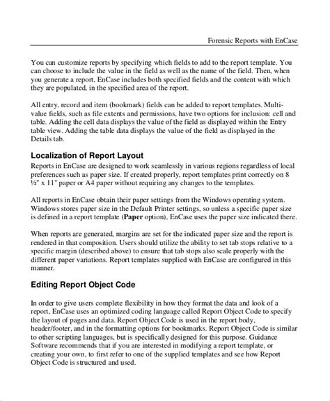 forensic report template sle forensic report 6 documents in word pdf