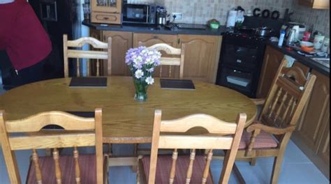 solid oak table 6 chairs dublin furniture for sale