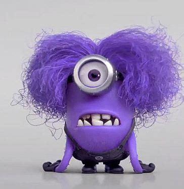 purple hair happy or crappy randomness it s best despicable me minions despicable me minions
