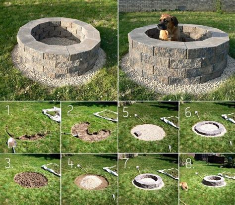 build your own backyard fire pit 75 best images about fireplaces fire pits on pinterest