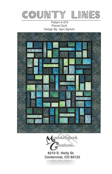 County Lines Quilt Pattern county lines quilt pattern by mountainpeek creations 274