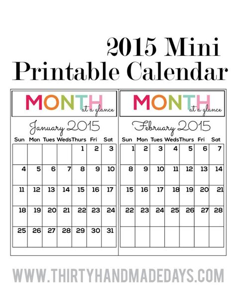 free printable 2016 pocket calendar calendar template 2016
