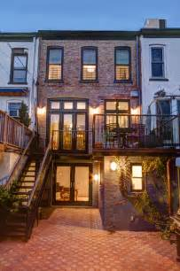 Brownstone Row House Floor Plans - park slope brownstone traditional exterior new york by ben herzog