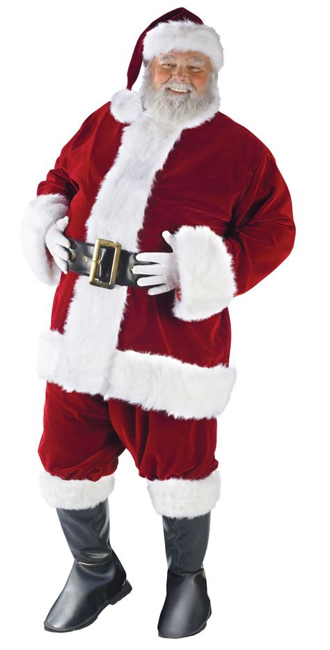 plus size ultra velvet santa suit christmas