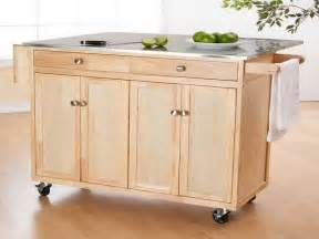 Kitchen Island Wheels by Kitchen Wooden Portable Kitchen Islands On Wheels